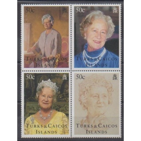 Turks and Caicos ( Islands) - 1995 - Nb 1144/1147 - Royalty