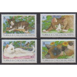 Turks and Caicos ( Islands) - 1995 - Nb 1136/1139 - Cats