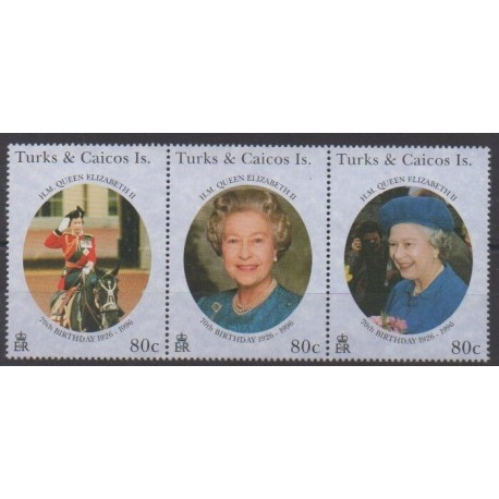 Turks and Caicos ( Islands) - 1996 - Nb 1187/1189 - Royalty