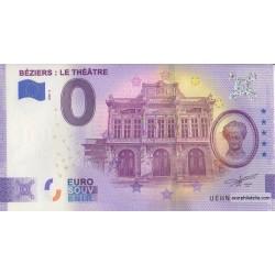 Euro banknote memory - 34 - Béziers : Le Theâtre - 2020-3