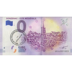 Euro banknote memory - 19 - Donzenac - Cite Médiévale - avec tampon - 2018-3
