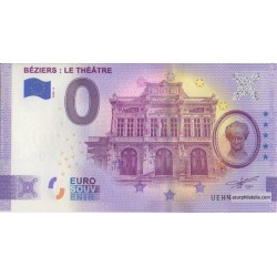 Euro banknote memory - 34 - Béziers : Le Theâtre - 2020-3 - Anniversary