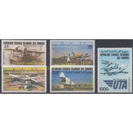 Comores - 1985 - No PA 219/ PA 223 - Avions