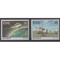Ireland - 1986 - Nb 597/598 - Planes