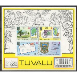 Tuvalu - 1980- Nb BF 4 - Stamps on stamps