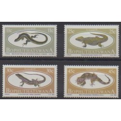 South Africa - Bophuthatswana - 1984 - Nb 129/132 - Reptils