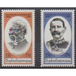 South Africa - Bophuthatswana - 1985 - Nb 137/138 - Celebrities