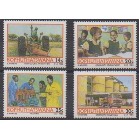 South Africa - Bophuthatswana - 1986 - Nb 173/176