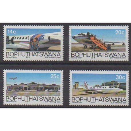 South Africa - Bophuthatswana - 1986 - Nb 177/180 - Planes