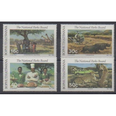 South Africa - Bophuthatswana - 1988 - Nb 202/205 - Parks and gardens