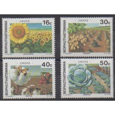 South Africa - Bophuthatswana - 1988 - Nb 206/209 - Fruits or vegetables