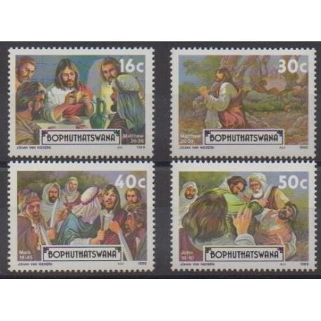 South Africa - Bophuthatswana - 1989 - Nb 214/217 - Easter