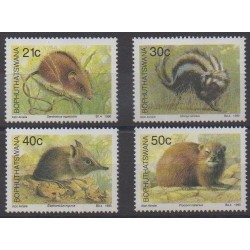 South Africa - Bophuthatswana - 1990 - Nb 235/238 - Mamals