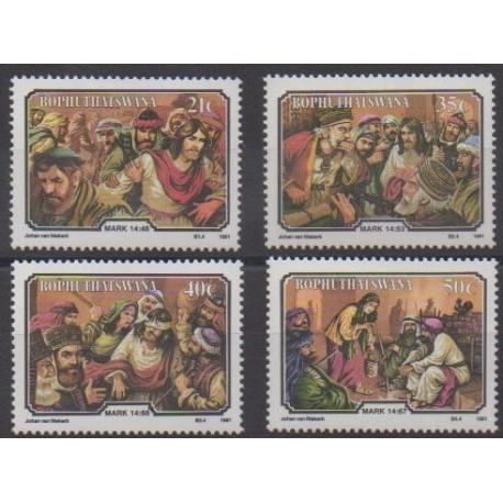 South Africa - Bophuthatswana - 1991 - Nb 261/264 - Easter