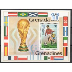 Timbres - Thème coupe du monde de football - Grenadines - 1978- No BF 37
