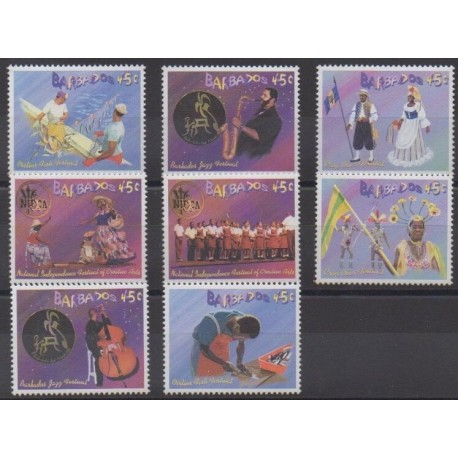 Barbados - 2003 - Nb 1103/1110 - Folklore - Music