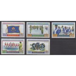 Barbade - 2004 - No 1111/1115 - Histoire militaire