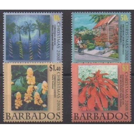 Barbados - 2008 - Nb 1196/1199 - Christmas - Paintings