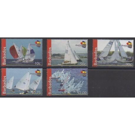 Barbados - 2010 - Nb 1212/1216 - Boats - Various sports