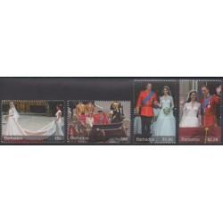 Barbados - 2011 - Nb 1241/1244 - Royalty