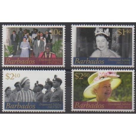 Barbados - 2012 - Nb 1245/1248 - Royalty