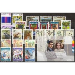 Liechtenstein - Année complète - 1993 - No 995/1019 - BF 18