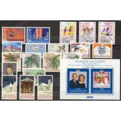Liechtenstein - Année complète - 1992 - No 974/994 - BF 17