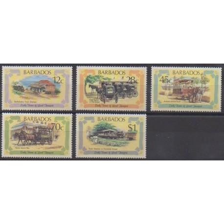 Barbados - 1981 - Nb 512/516 - Transport