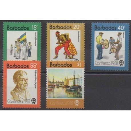 Barbados - 1981 - Nb 524/528 - Folklore