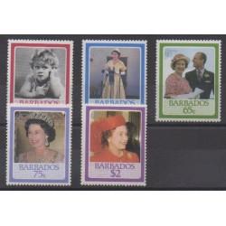 Barbados - 1986 - Nb 646/650 - Royalty