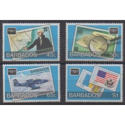 Barbados - 1986 - Nb 853/856 - Stamps on stamps