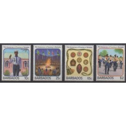 Barbados - 1987 - Nb 690/693 - Scouts