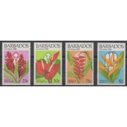 Barbados - 1986 - Nb 677/680 - Flowers - Christmas