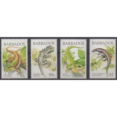 Barbados - 1988 - Nb 723/726 - Reptils