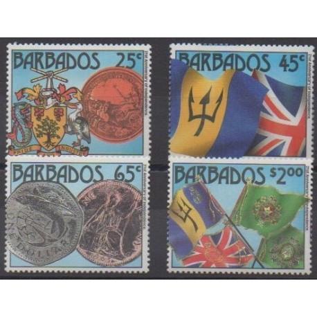 Barbados - 1987 - Nb 714/717 - Various Historics Themes