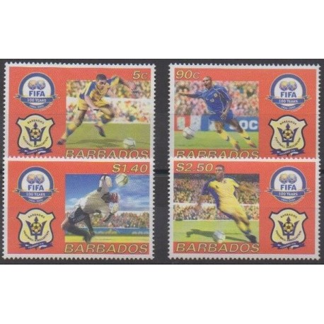 Barbados - 2004 - Nb 1125/1128 - Football