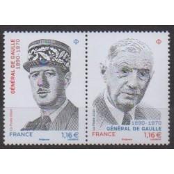 France - Poste - 2020 - Nb 5444/5445 - De Gaullle