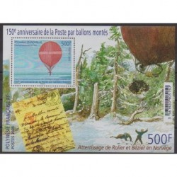 Polynesia - Blocks and sheets - 2020 - BF 150 ans de la poste par ballons montés - Hot-air balloons - Airships