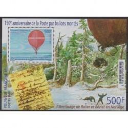 Polynésie - Blocs et feuillets - 2020 - BF 150 ans poste par ballons montés