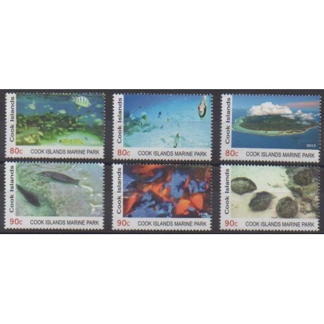 Cook (Islands) - 2013 - Nb 1467/1472 - Sea life