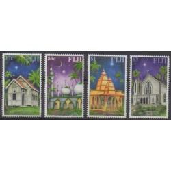 Fiji - 2002 - Nb 977/980 - Churches - Christmas