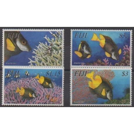 Fiji - 2003 - Nb 989/992 - Sea life