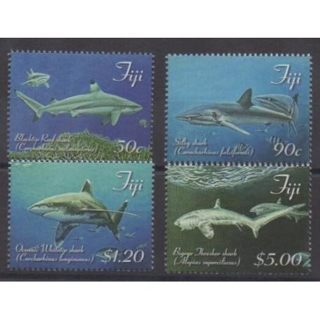 Fiji - 2014 - Nb 1275/1278 - Sea life