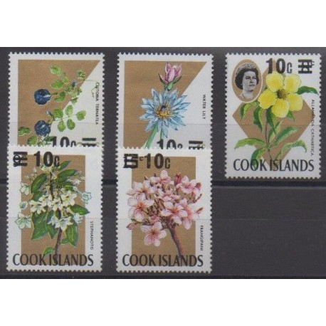 Cook (Islands) - 1971 - Nb 282/286 - Flowers