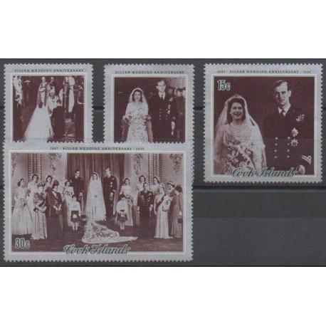 Cook (Islands) - 1972 - Nb 328/331 - Royalty