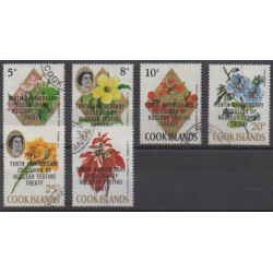 Cook (Islands) - 1973 - Nb 342/347 - Environment - Flowers - Used