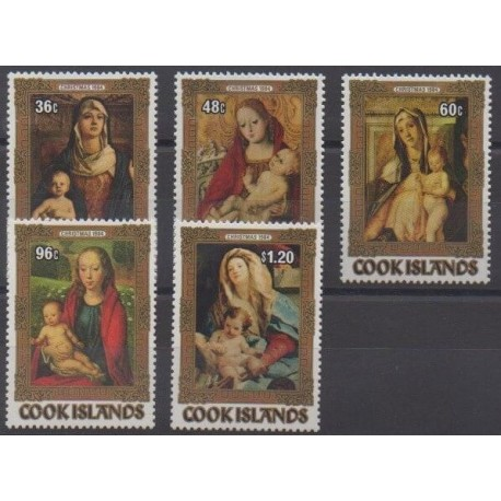 Cook (Islands) - 1984 - Nb 810/814 - Christmas - Paintings