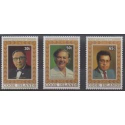 Cook (Islands) - 1985 - Nb 840/842 - Celebrities