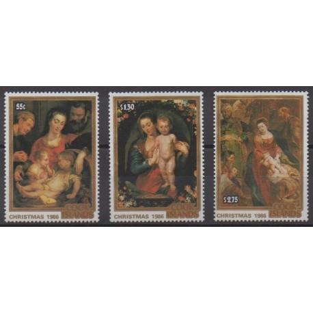 Cook (Islands) - 1986 - Nb 867/869 - Christmas - Paintings