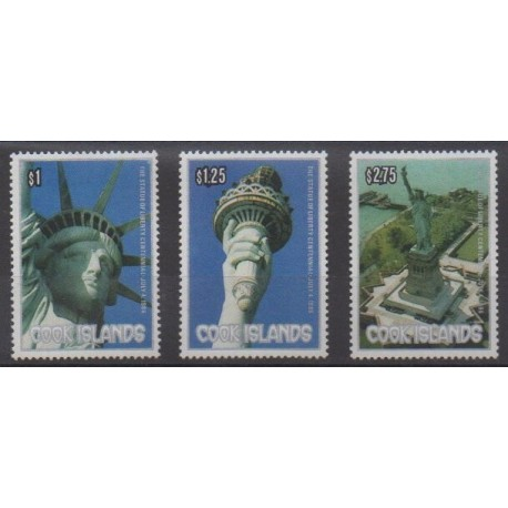 Cook (Islands) - 1986 - Nb 861/863 - Monuments